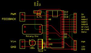 SLCB-Design des das Digitalboards zur Steuerung von Anzeigeboard, Analogboard, Lüfter, Temperaturkontrolle, etc.
